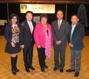 (From left) Cindy, Pius, Hon Linda Reid, Joseph, John
