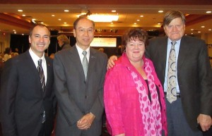 (From left) Hon Norm Letnick-Ministry of Agriculture, Dr Joseph Hui-President of CFCC, Hon Linda Reid-Speaker of MLA ofBC, Hon Ralph Sultan-MLA West Vancouver